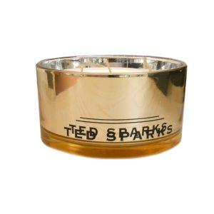 Geurkaars goud Ted Sparks - Juul Kadoshop